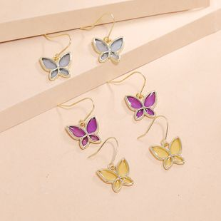 Korean simple transparent butterfly fashion sweet earrings wholesale nihaojewelry NHKQ240493's discount tags