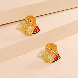 simple fruit  Korea sweet  lovely dripping oil earrings wholesale nihaojewelry NHKQ240496's discount tags