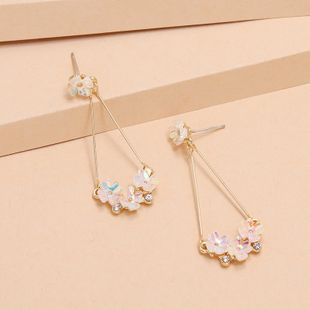 Fashion New S925 Silver Needle Shell Flower Earrings wholesale nihaojewelry NHKQ240499's discount tags