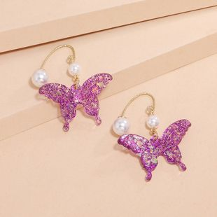 fashion trend colorful sequin earrings new Korean sweet butterfly earrings wholesale nihaojewelry NHKQ240501's discount tags