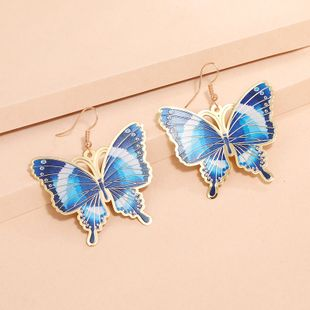 retro exaggerated thin butterfly  fashion simple creative painted enamel earrings wholesale nihaojewelry NHKQ240504's discount tags