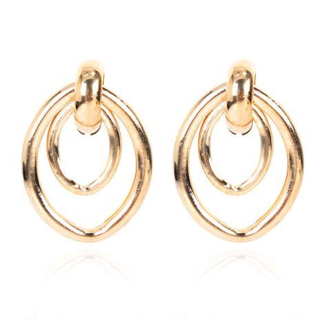 boucles d'oreilles rétro dames géométriques en alliage simple en gros nihaojewely NHCT240507's discount tags