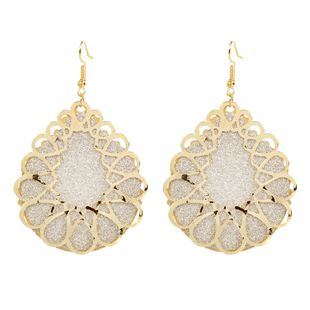 fashion retro alloy geometric hollow double earrings Bohemian style earrings wholesale nihaojewely NHCT240513's discount tags