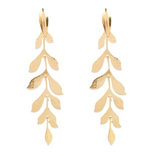 Korean creative alloy willow leaf multi-layer long earrings wholesale nihaojewely NHCT240517's discount tags