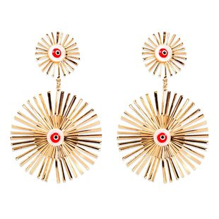 Bohemian retro alloy drop eye gold earrings wholesale nihaojewely NHCT240526's discount tags