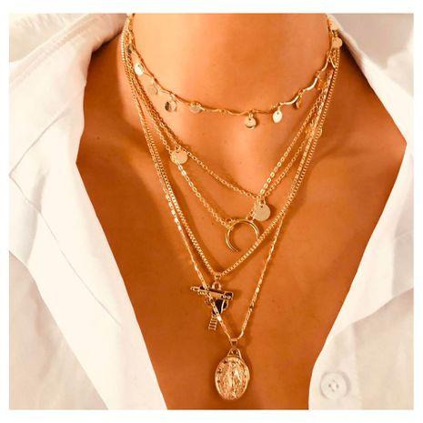 collier de mitraillette dames collier croissant exagéré en gros nihaojewely NHCT240528's discount tags