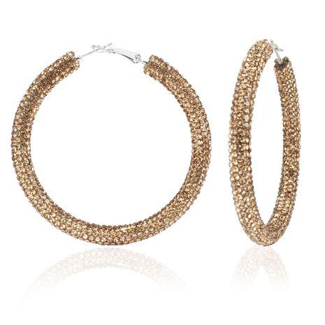 Boucles d'oreilles créoles en diamant de couleur all-match de mode en gros nihaojewely NHCT240531's discount tags