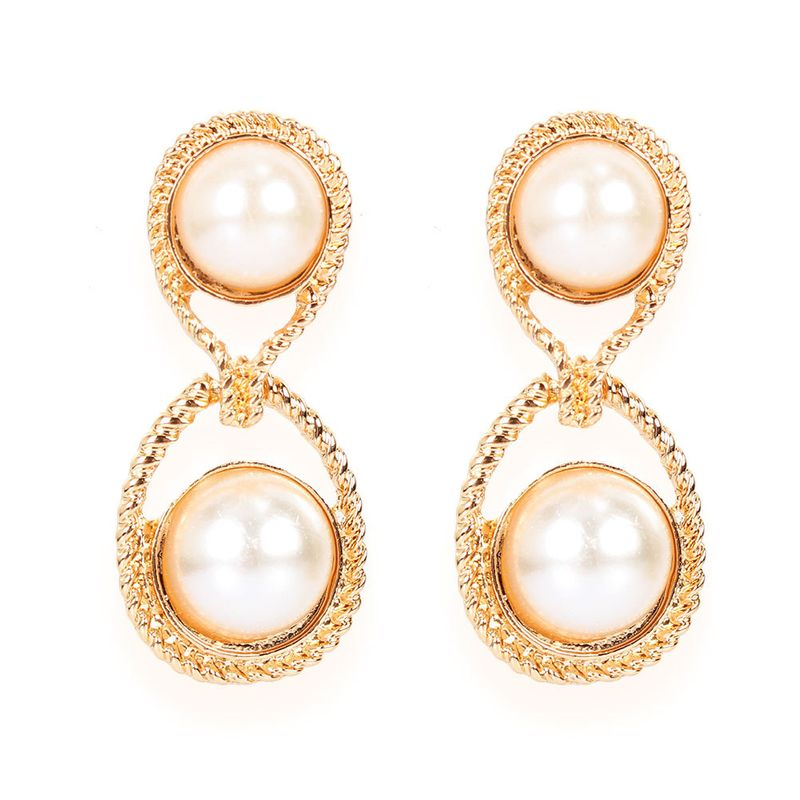 alloy imitation pearl dropshaped  style sweet earrings wholesale nihaojewely NHCT240533