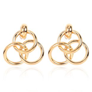 simple all-match alloy plating ring  retro ladies earrings wholesale nihaojewely NHCT240539's discount tags