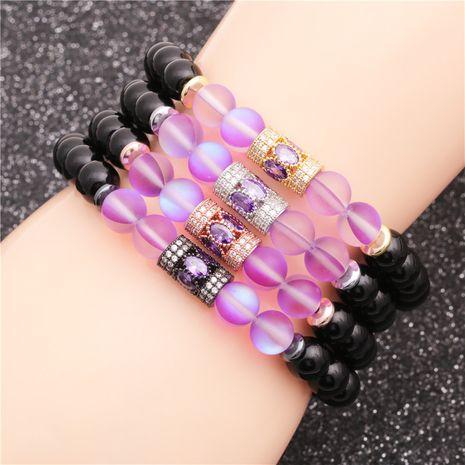 vente chaude pierre brillante oeil de tigre pierre de lune bracelet de perles en gros nihaojewelry NHYL240570's discount tags