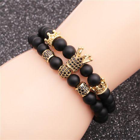 nouveau produit givré pierre couronne diamant boule perles bracelet ensemble en gros nihaojewelry NHYL240576's discount tags