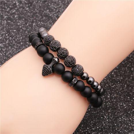 tendance nouveau produit givré pierre diamant boule perles bracelet ensemble en gros nihaojewelry NHYL240577's discount tags