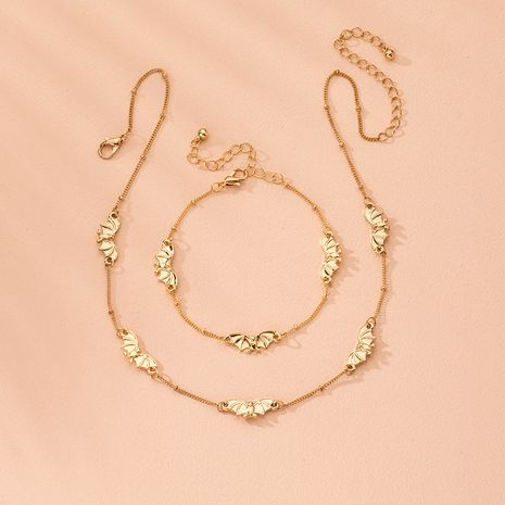 moda nuevo animal simple estilo collar y pulsera conjunto al por mayor NHAI240582's discount tags