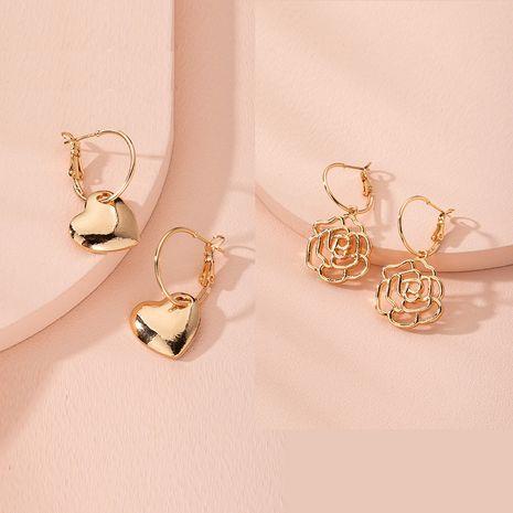 Pendientes de amor de flores de moda coreana nuevos pendientes populares de estilo simple al por mayor nihaojewelry NHAI240589's discount tags