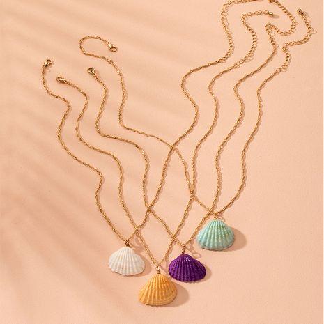 Venta caliente estilo bohemio colorido collar océano concha collar collar al por mayor nihaojewelry NHAI240592's discount tags