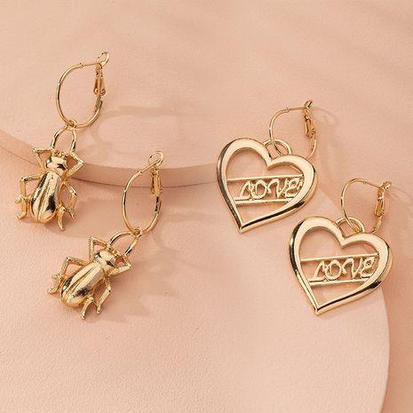 pendientes de amor de cricket metálicos pendientes exagerados de moda al por mayor nihaojewelry NHAI240597's discount tags
