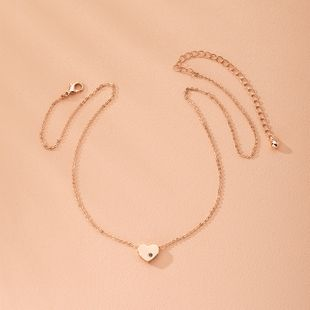 fashion clavicle chain love diamond chain necklace wholesale nihaojewelry NHAI240601's discount tags