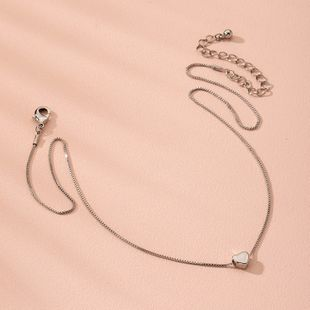 S925 Silver Women's Ornaments Simple Sweater Silver Clavicle Necklace wholesale nihaojewelry NHAI240602's discount tags