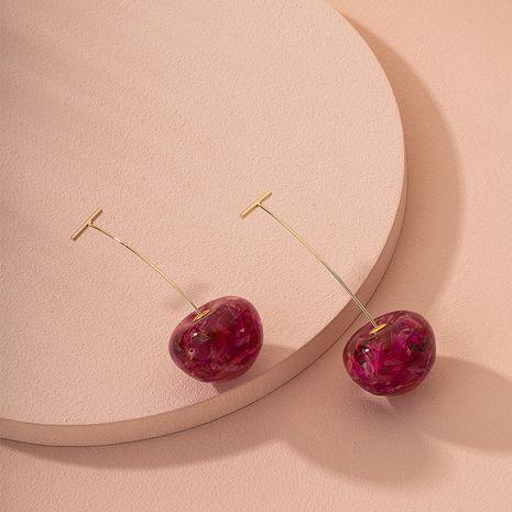 flor seca cereza pendientes nuevos pendientes largos de moda al por mayor nihaojewelry NHAI240608's discount tags