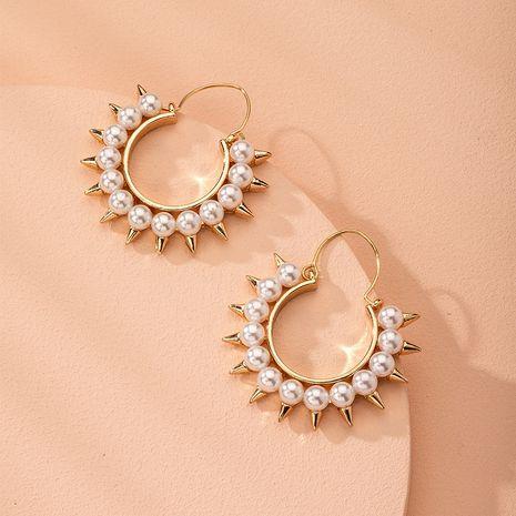 Korean pearl  new trendy sterling silver earrings  wholesale nihaojewelry NHAI240609's discount tags