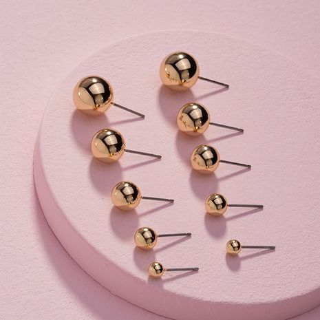 moda simple pendientes de guisantes de cuentas redondas pequeñas y brillantes al por mayor nihaojewelry NHAI240613's discount tags