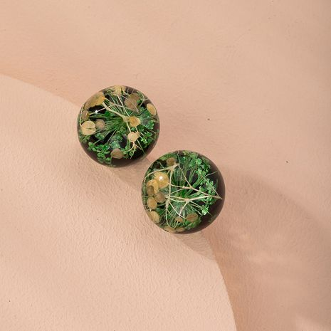 natural dried flower earrings new simple  earrings wholesale nihaojewelry NHAI240614's discount tags