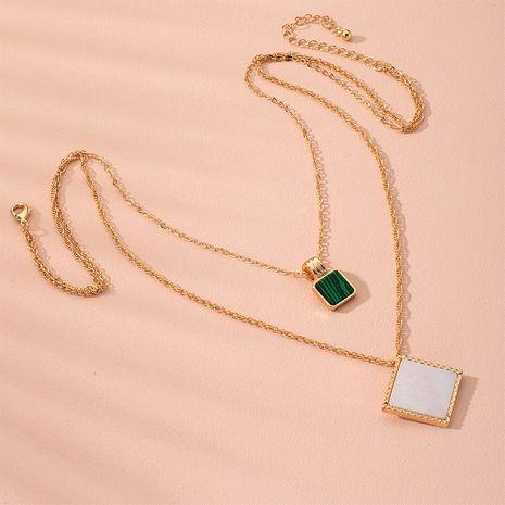 geometric pearl pendant multi-layer design sense clavicle chain necklace wholesale nihaojewelry NHAI240618's discount tags