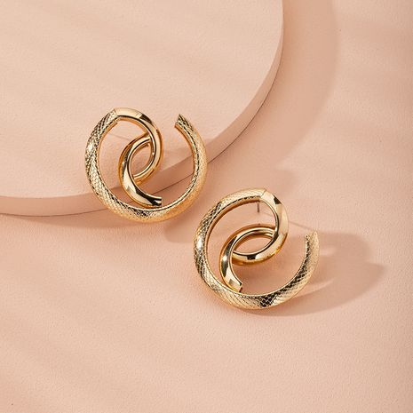 snake-shaped high-quality abstract exaggerated trend street earrings wholesale nihaojewelry NHAI240619's discount tags