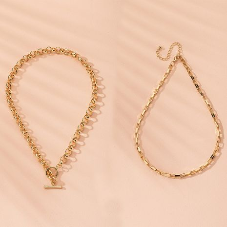 fashion simple small clavicle chain wholesale nihaojewelry NHAI240623's discount tags