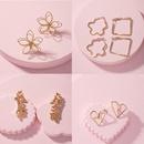 new simple style silver shaped earrings wholesale nihaojewelry NHAI240627