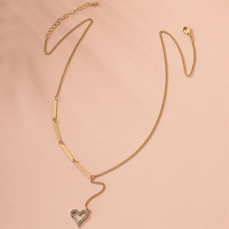 S925 silver pendant simple diamond geometric love shape clavicle chain necklace wholesale nihaojewelry NHAI240634's discount tags