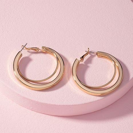 nuevos pendientes minimalistas modernos del aro del metal al por mayor nihaojewelry NHAI240635's discount tags
