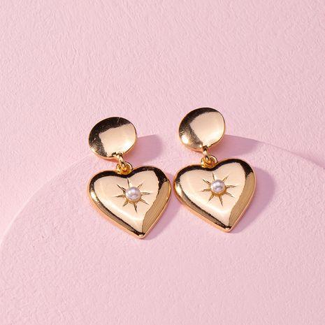 pendientes de perlas de amor retro dulce niña pendientes simples al por mayor nihaojewelry NHAI240636's discount tags