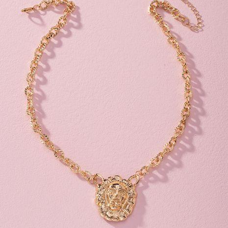 new hip-hop ambush lion head pendant sweater chain necklace wholesale nihaojewelry NHAI240637's discount tags