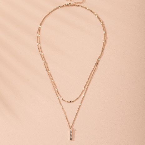 new exaggerated fashion multi-layer simple necklace wholesale nihaojewelry NHAI240642's discount tags