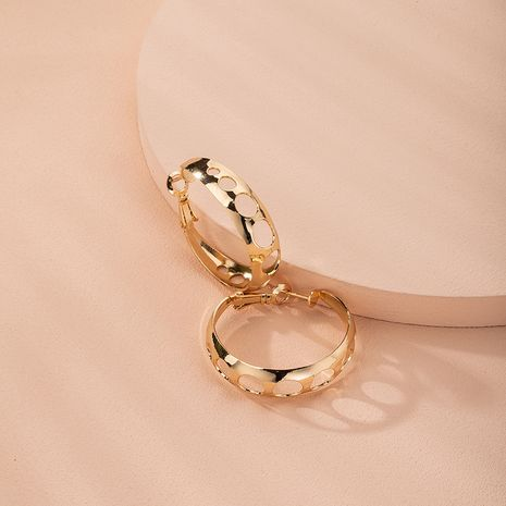 rings circles new trendy earrings bold large circle earrings wholesale nihaojewelry NHAI240643's discount tags