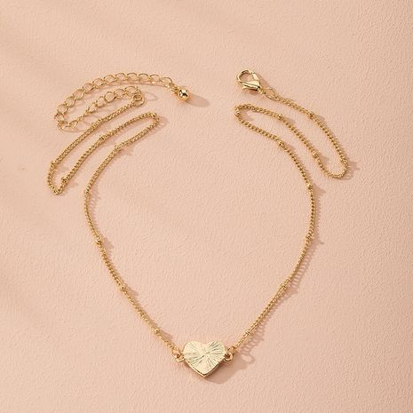 love shaped simple retro sweater chain necklace wholesale nihaojewelry NHAI240651's discount tags