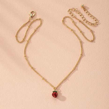 hipsters cool style simple fruit fraise créatif collier original en gros nihaojewelry NHAI240653's discount tags