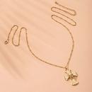 fashion alloy cross pendant necklace popular Halloween skull necklace wholesale nihaojewelry NHAI240654