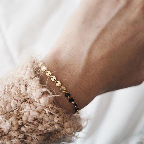 Bracelet de chaîne de disque de mode pour femmes en acier au titane 316L plaqué or bracelets en gros nihaojewelry NHTF240660's discount tags