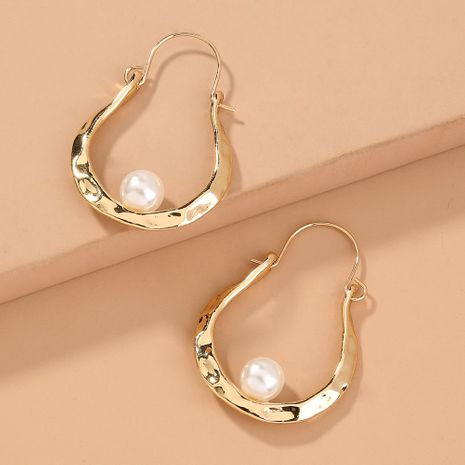Pendientes de moda simple en forma de U venta caliente al por mayor NHAN240667's discount tags