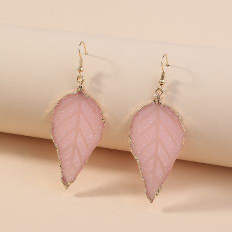 simple wild pink leaf  hot selling retro temperament earrings wholesale  NHAN240669's discount tags