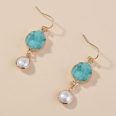 retro simple wild pearl crystal cluster mix  match pendant earrings wholesale  NHAN240672's discount tags