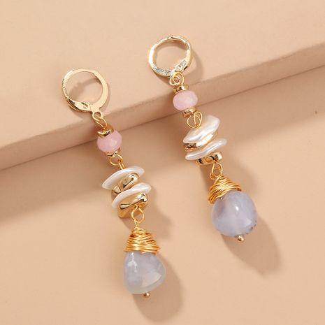 hot sale retro  multi-element light blue natural stone  fashion high-end elegant earrings  NHAN240683's discount tags