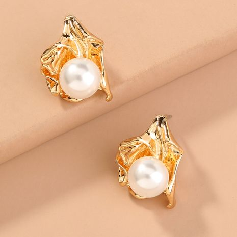 hot-selling  Baroque  exaggerated elegant special-shaped pearls earrings wholesale  NHAN240689's discount tags
