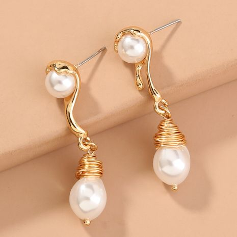 hot-selling pearl tassel  new fashion long earrings wholesale  NHAN240693's discount tags