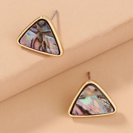 hot selling fashion wild natural abalone shell color  triangle earrings NHAN240694's discount tags