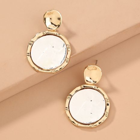 hot-selling metal geometric round simple  all-match earrings wholesale   NHAN240695's discount tags