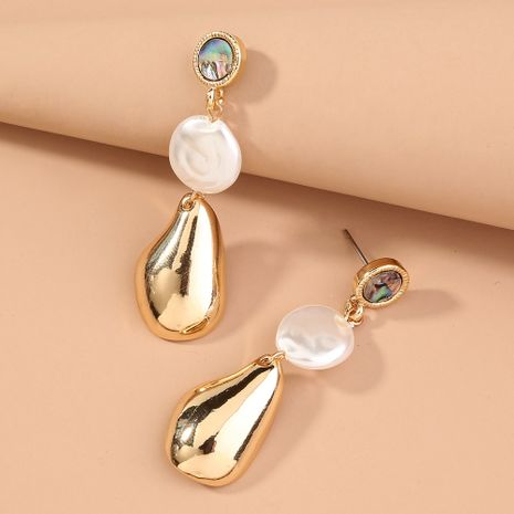Natural Abalone  Long Tassel Pearl Shaped Water Drop Exaggerated Earrings NHAN240698's discount tags