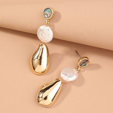 Pendientes exagerados de gota de agua con forma de perla de borla larga de abulón natural NHAN240698's discount tags
